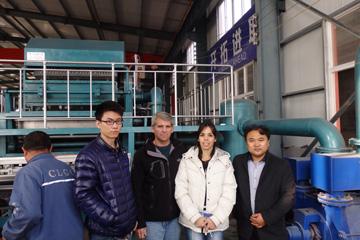 阿根廷客户订购HRZ-4000M系列蛋托生产线